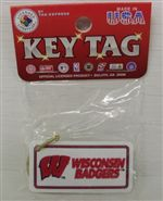 Wisconsin Badgers Key Ring  - Plastic License Plate