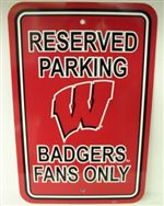 Wisconsin Badgers Sign - Parking