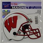 Wisconsin Badgers Magnet - Die Cut Helmet
