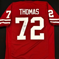 Joe Thomas Autograph Custom Badger Jersey