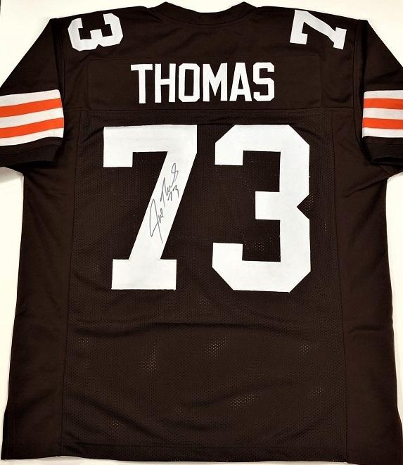 buy popular 1814e 38dbc Joe Thomas Autograph Custom Cleveland Brown Jersey