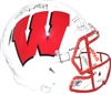 JJ Watt TJ Watt & Derek Watt signed Wisconsin Badgers full size helmet
