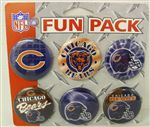 Chicago Bears Six Pack Of Buttons