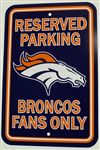 Denver Broncos Sign - Parking