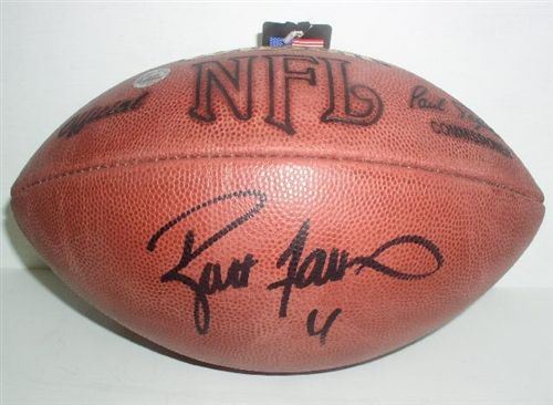 uk availability dfd89 bfd1d Brett Favre Autograph Official NFL Football