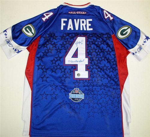 premium selection 68885 9f28a Brett Favre Autograph Authentic 2008 Pro-Bowl Jersey