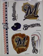 Milwaukee Brewers Window Cling Sheet