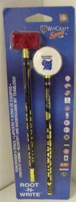 Milwaukee Brewers Pencil and Eraser Set