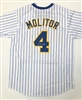 Paul Molitor Autograph Custom Brewers Jersey