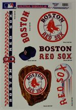 Boston Red Sox Window Cling Sheet