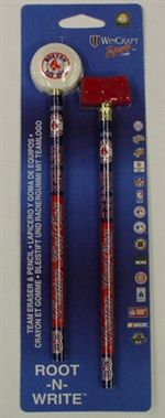 Boston Red Sox Pencil And Eraser Set