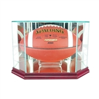 Football Glass Octagon Display Case