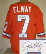 John Elway Autograph Authentic Style Jersey