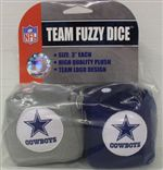 Dallas Cowboys Fuzzy Dice