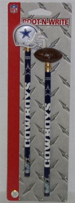 Dallas Cowboys Pencil And Eraser Set