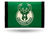 MILWAUKEE BUCKS GREEN NYLON TRIFOLD WALLET