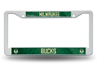 MILWAUKEE BUCKS PLASTIC LISCENSE FRAME