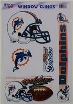 Miami Dolphins Window Cling Sheet