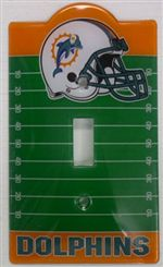 Miami Dolphins Light Switch Cover