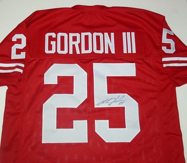 official photos 9683a 2e82a Melvin Gordon Autograph Custom Badger Jersey
