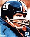 New York Giants Y.A. Tittle Autograph 8x10 Photo