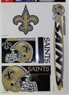 New Orleans Saints Window Cling Sheet