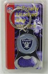 Oakland Raiders Bottle Opener Key Ring