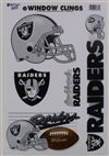 Oakland Raiders Window Cling Sheet