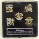 Brett Favre Set Of Five Commerative Pin Set