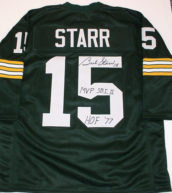 huge selection of fd8b5 02b80 Bart Starr Autograph Throwback Jersey