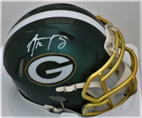 Aaron Rodgers Green Bay Packers Autographed Riddell BLAZE Speed Mini Helmet