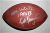 Brett Favre and Reggie White Autograph Official Super Bowl 31 NFL Football
