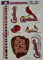 St. Louis Cardinals Window Cling Sheets