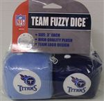 Tennessee Titans Fuzzy Dice
