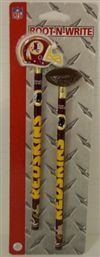 Washington Redskins Pencil And Eraser Set