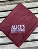 Alice's Fleece Throw Blanket -  Maroon