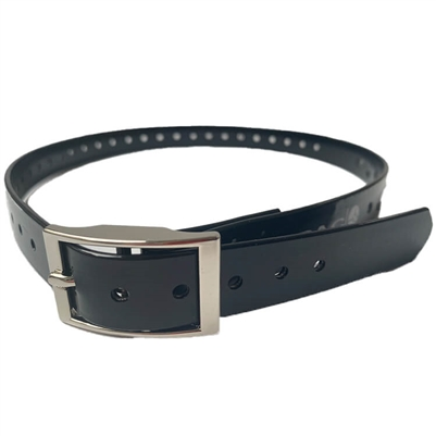 Rubber Buckle Strap for Collar Unit | Black