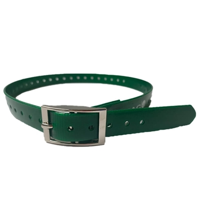 green dog collar strap