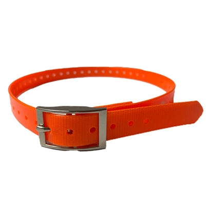 Rubber Buckle Strap for Collar Unit | Orange