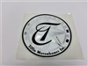 Decal Round T Emblem Black and Silver