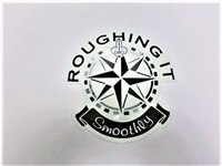 Roughing in smoothly logo decal for Tiffin motorhome