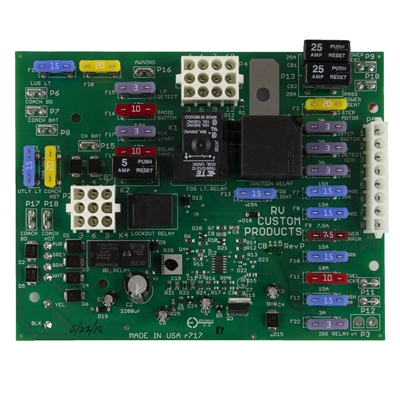 holiday rambler, monaco RV, Tiffin motorhome,battery control center pc board