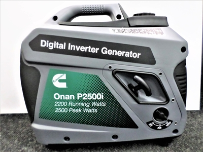 Cummins Onan P2500I, 2200 watt portable generator- perfect for RV  or Camping use and around the home. Ship anywhere or pick up in Grand Rapids Michigan