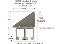 Galvanized Double Wall Box Rail Bracket