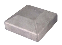 "2-1/2"" Square Galvanized Cap"