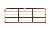 6-Bar Economy Tube Gate - Red