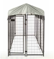 Welded Wire Dog Kennel with Cover