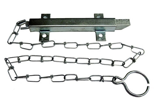 Square Spring Latch with Chain