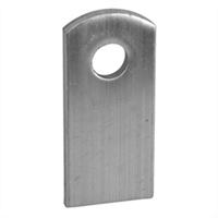 "1"" x 1-1/2"" Weld Tab with 3/8"" Hole"