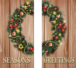 Double Season's Greetings on Rustic Boards